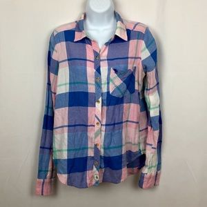 Abercrombie & Fitch cotton button front shirt M